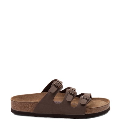 Main view of Womens Birkenstock Florida Soft Footbed Sandal - Brown