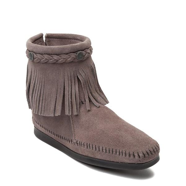alternate view Womens Minnetonka Back Zip Boot - GrayALT1