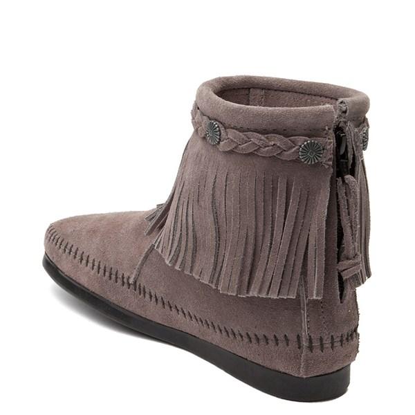alternate view Womens Minnetonka Back Zip Boot - GrayALT2