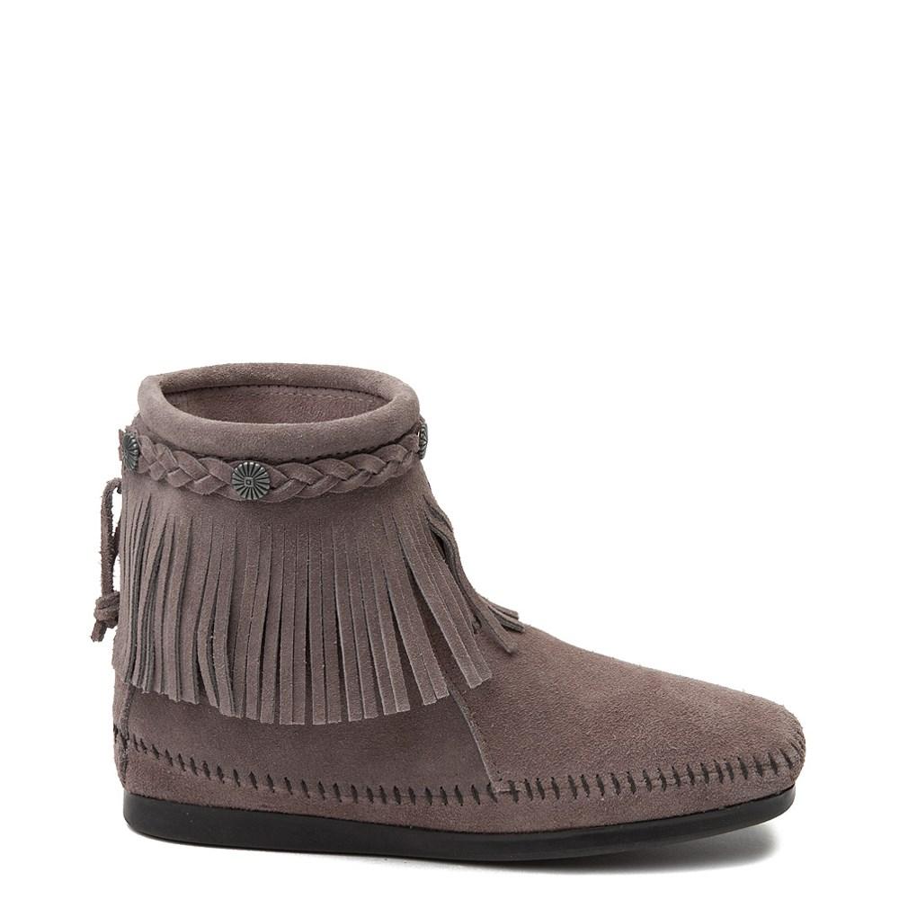Womens Minnetonka Back Zip Boot - Gray