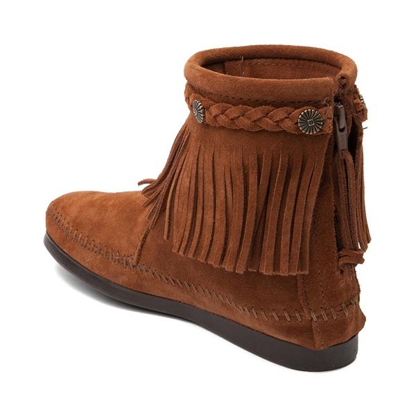 alternate view Womens Minnetonka Back Zip Boot - ChestnutALT1
