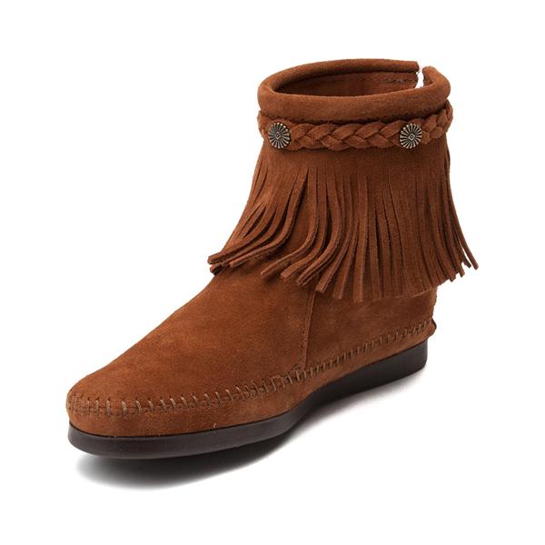 alternate view Womens Minnetonka Back Zip Boot - ChestnutALT2
