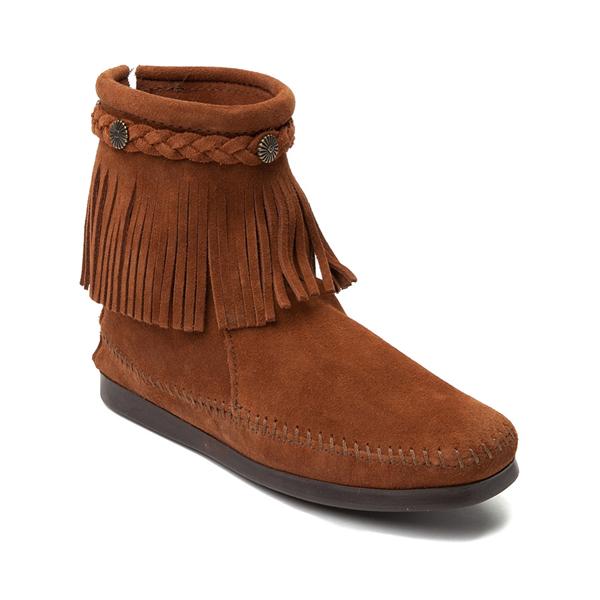 alternate view Womens Minnetonka Back Zip Boot - ChestnutALT5