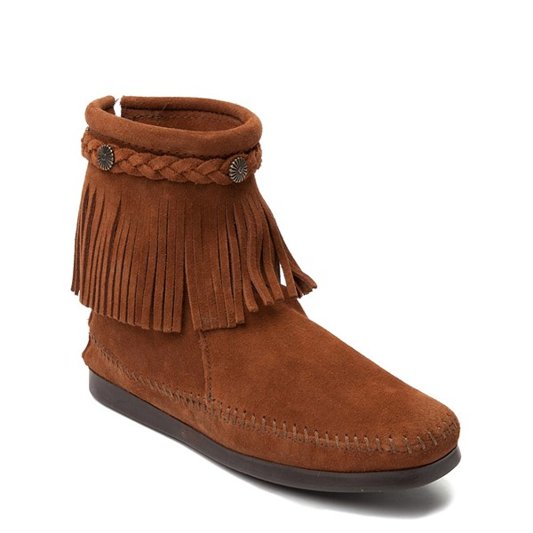 alternate view Womens Minnetonka Back Zip Boot - ChestnutALT1