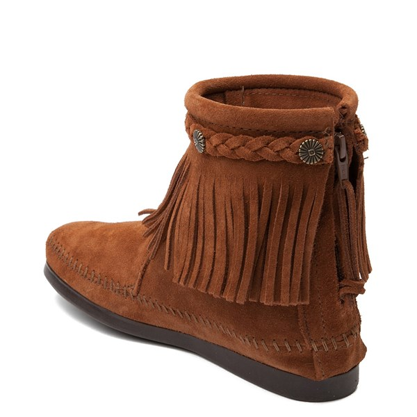 alternate view Womens Minnetonka Back Zip Boot - ChestnutALT2