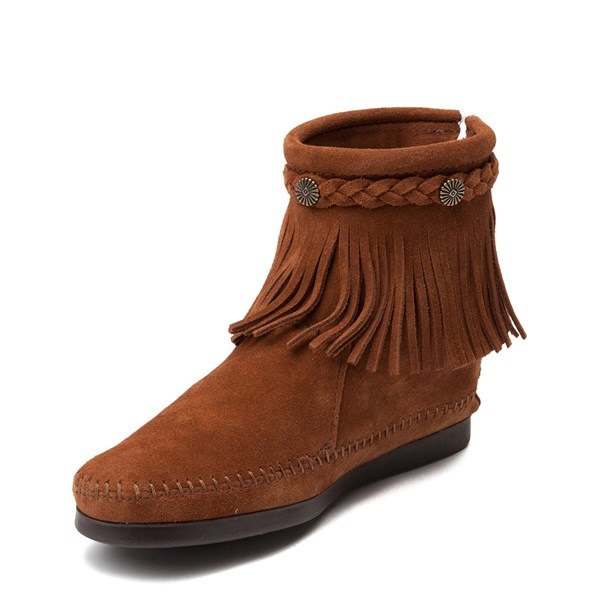 alternate view Womens Minnetonka Back Zip Boot - ChestnutALT3