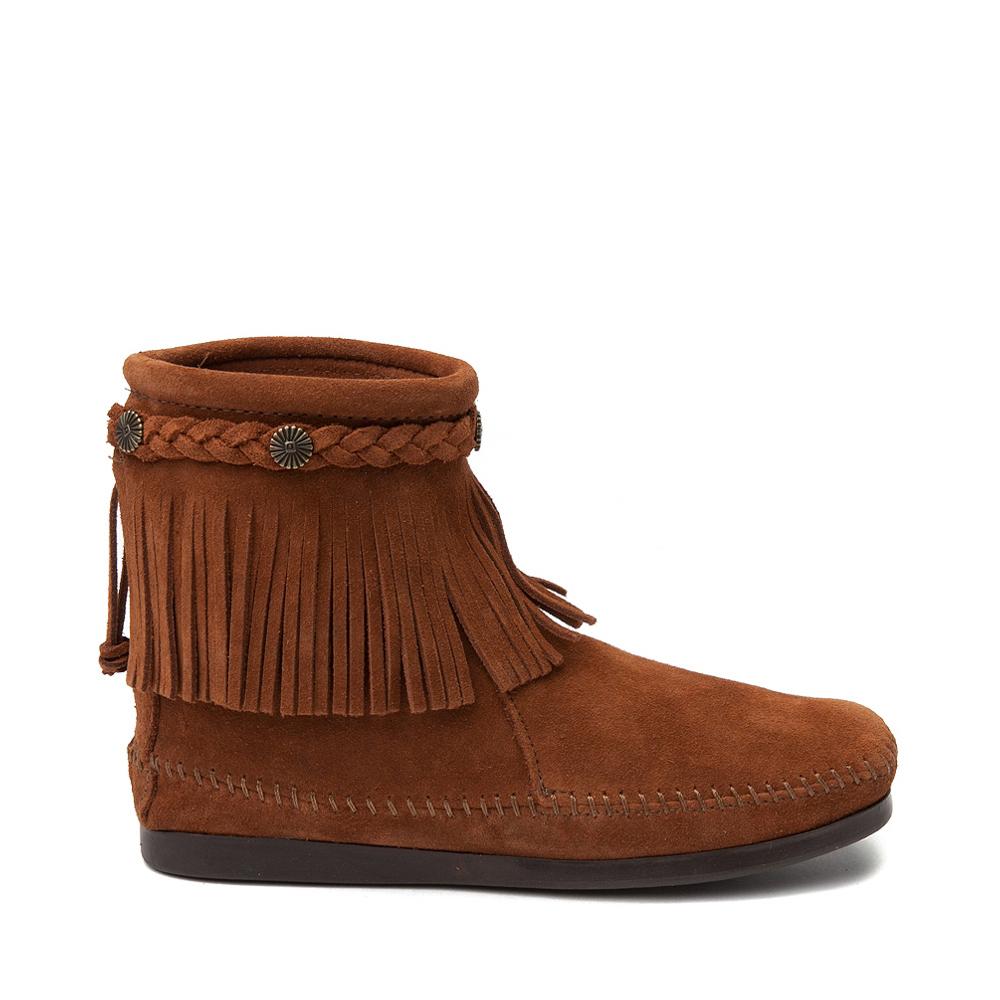 Womens Minnetonka Back Zip Boot - Chestnut