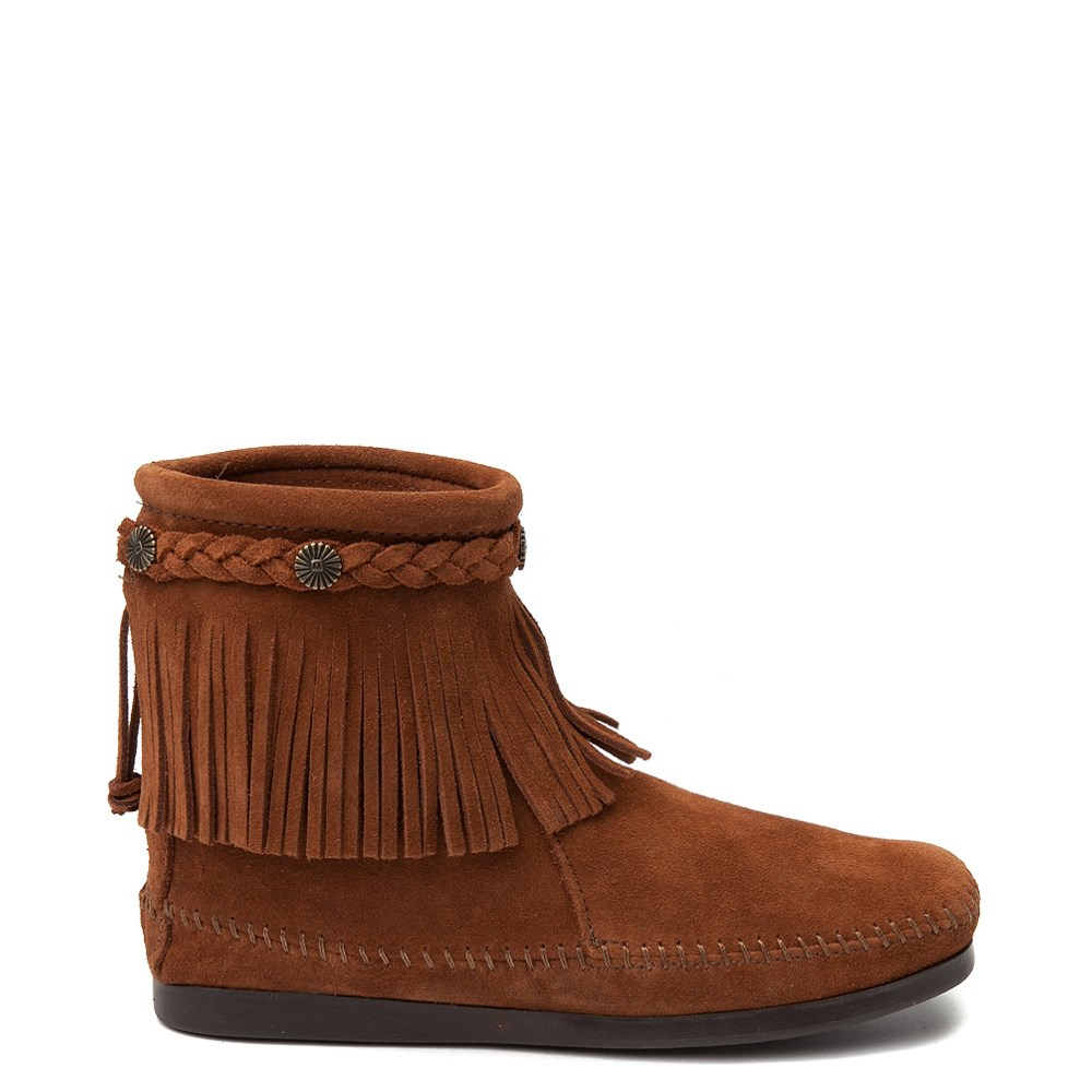 Womens Minnetonka Back Zip Boot - Chestnut