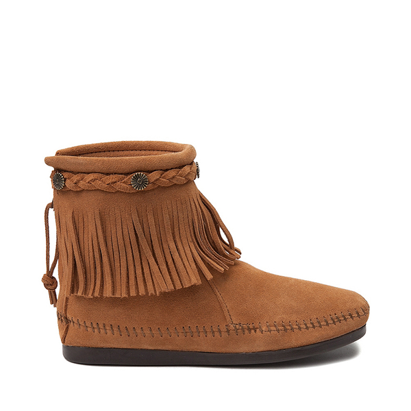 Womens Minnetonka Back Zip Boot - Taupe