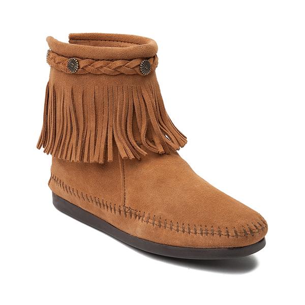 alternate view Womens Minnetonka Back Zip Boot - TaupeALT5