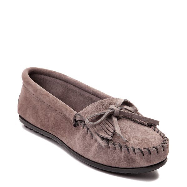 alternate view Womens Minnetonka Kilty Casual Shoe - GrayALT1