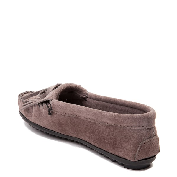 alternate view Womens Minnetonka Kilty Casual Shoe - GrayALT2