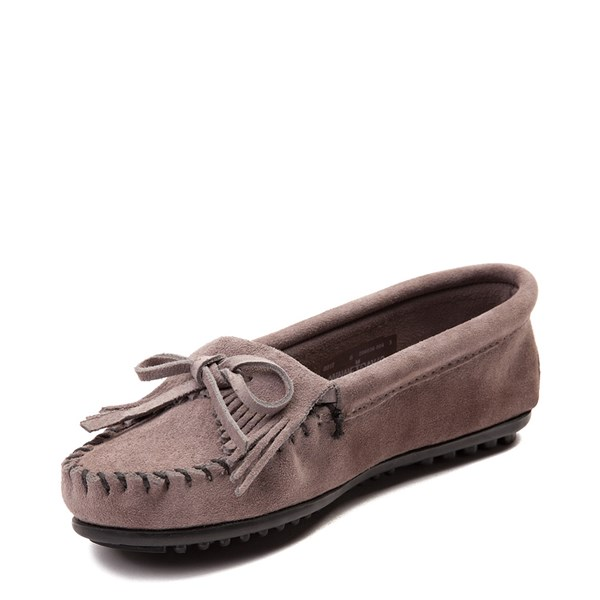 alternate view Womens Minnetonka Kilty Casual Shoe - GrayALT3