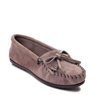 Alternate view of Womens Minnetonka Kilty Casual Shoe - Gray
