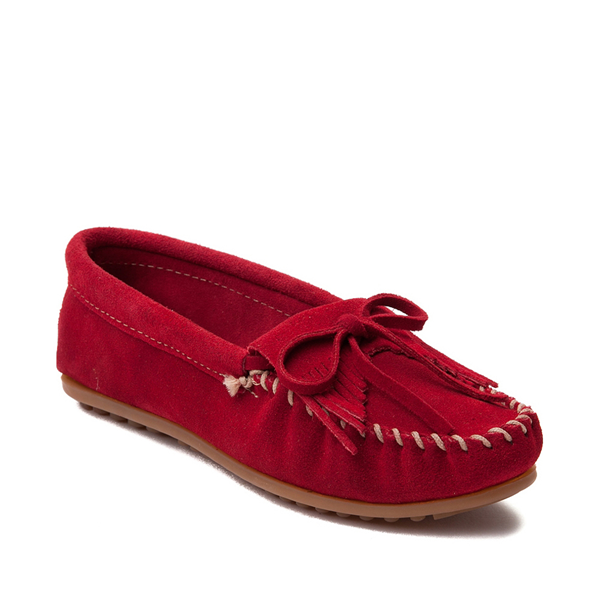 alternate view Womens Minnetonka Kilty Casual Shoe - RedALT5