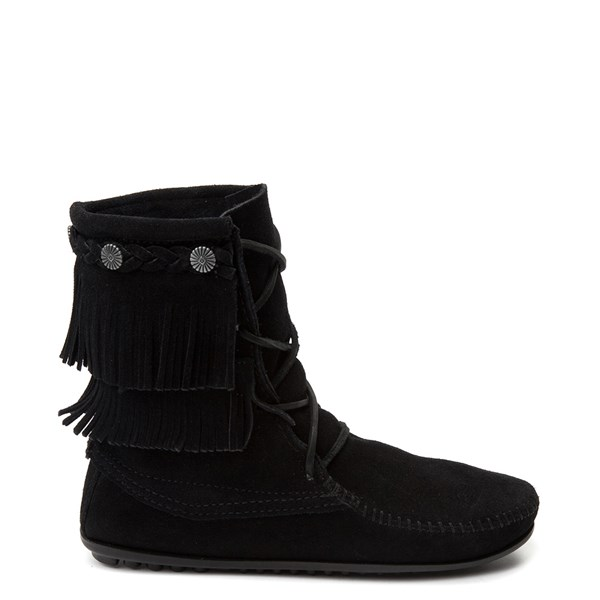 Womens Minnetonka Double Fringe Tramper Boot