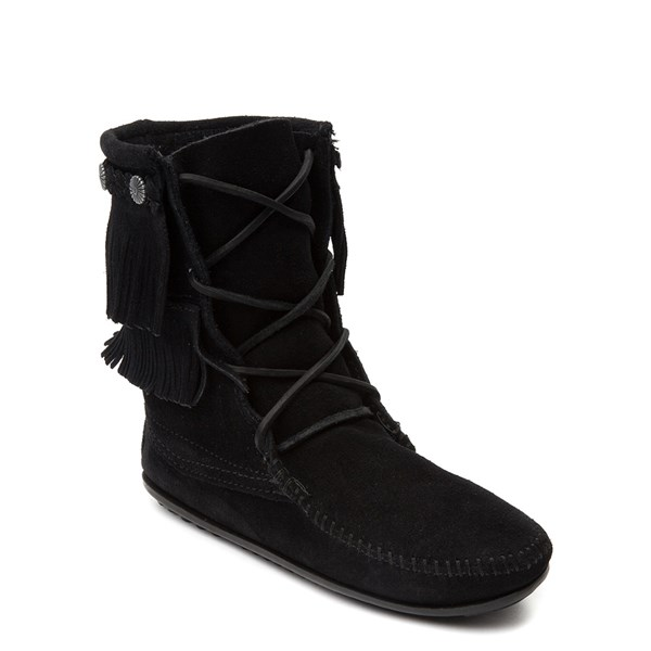 Alternate view of Womens Minnetonka Double Fringe Tramper Boot
