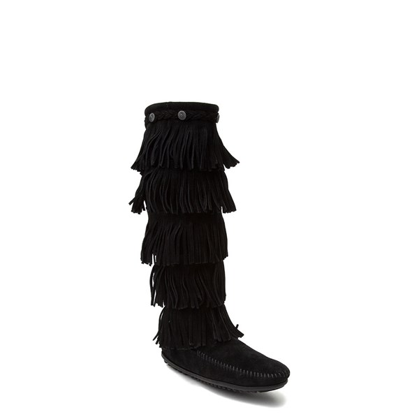 alternate view Womens Minnetonka 5 Layer Fringe BootALT1