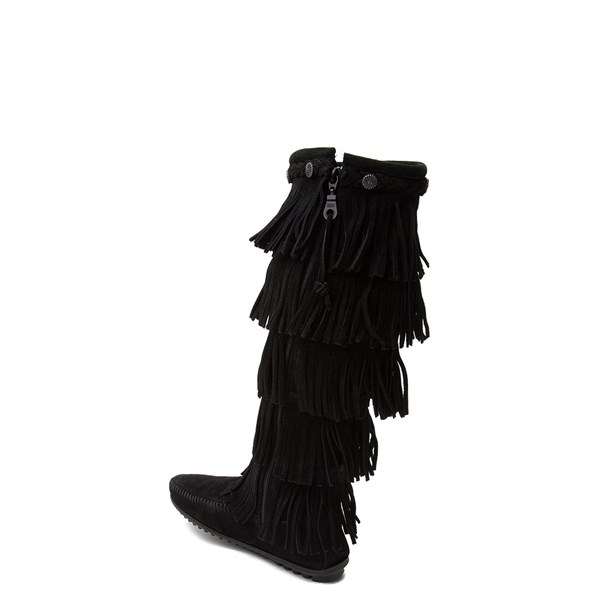 alternate view Womens Minnetonka 5 Layer Fringe BootALT2