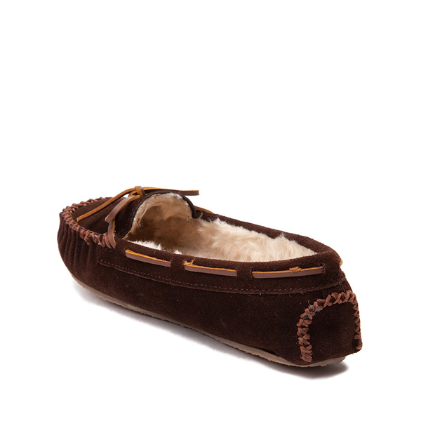 alternate view Womens Minnetonka Cally Casual Shoe - ChocolateALT1