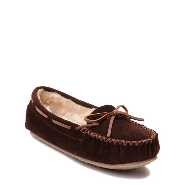 alternate view Womens Minnetonka Cally Casual Shoe - ChocolateALT1
