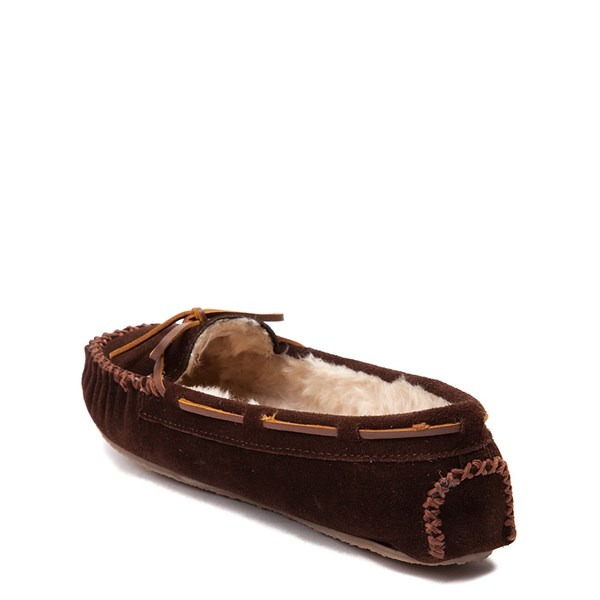 alternate view Womens Minnetonka Cally Casual Shoe - ChocolateALT2
