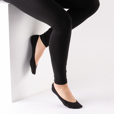 Alternate view of Womens Seamless Super Low Liners 5 Pack - Black