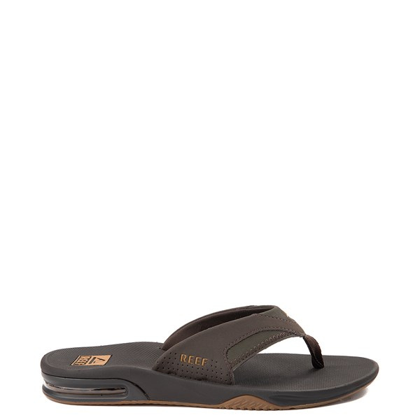 Mens Reef Fanning Sandal - Brown / Gum