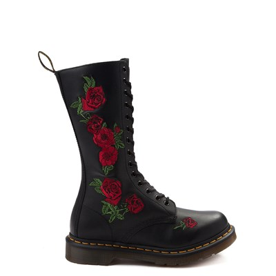 Main view of Womens Dr. Martens 14-Eye Vonda Boot - Black / Red