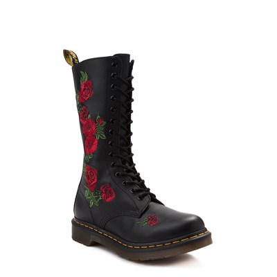 Alternate view of Womens Dr. Martens 14-Eye Vonda Boot - Black / Red