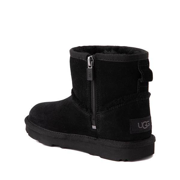 alternate view UGG® Classic Mini Fluff Spill Seam Boot - Little Kid / Big Kid - BlackALT1