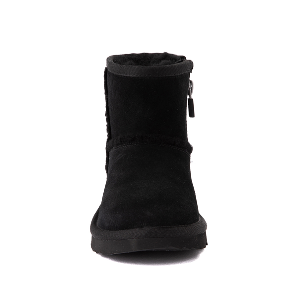 alternate view UGG® Classic Mini Fluff Spill Seam Boot - Little Kid / Big Kid - BlackALT4