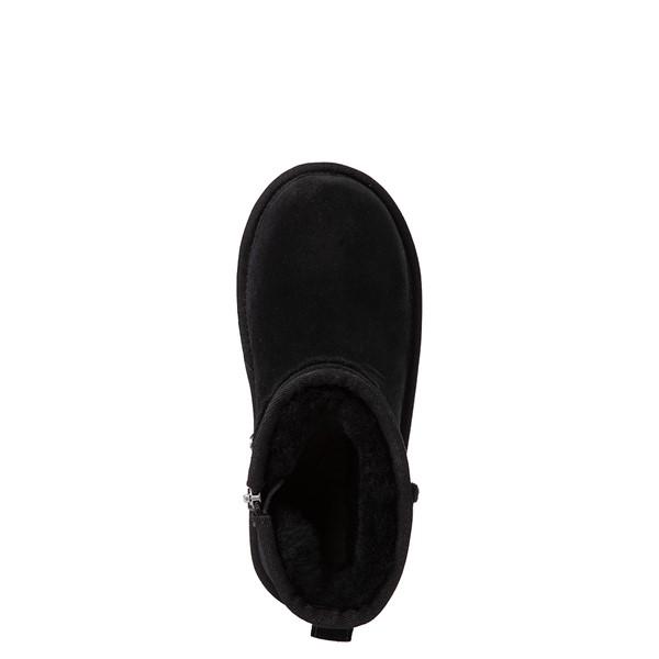 alternate view UGG® Classic Mini Fluff Spill Seam Boot - Little Kid / Big Kid - BlackALT4B