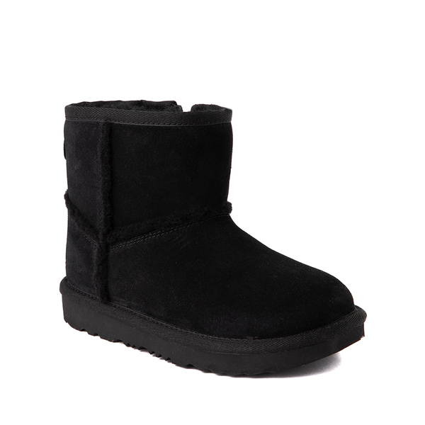 alternate view UGG® Classic Mini Fluff Spill Seam Boot - Little Kid / Big Kid - BlackALT5