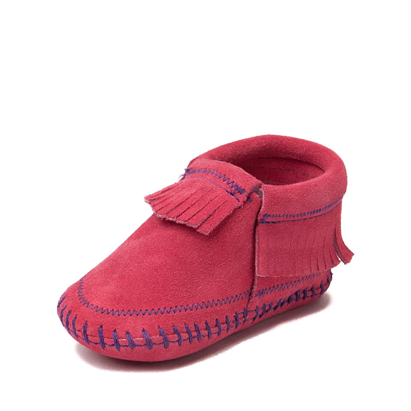 alternate view Minnetonka Riley Bootie - Baby / Toddler - PinkALT2