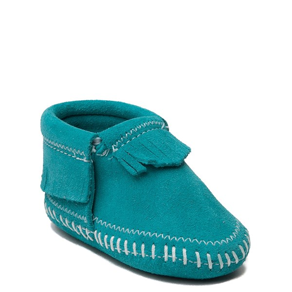 alternate view Minnetonka Riley Bootie - Baby / Toddler - TurquoiseALT1