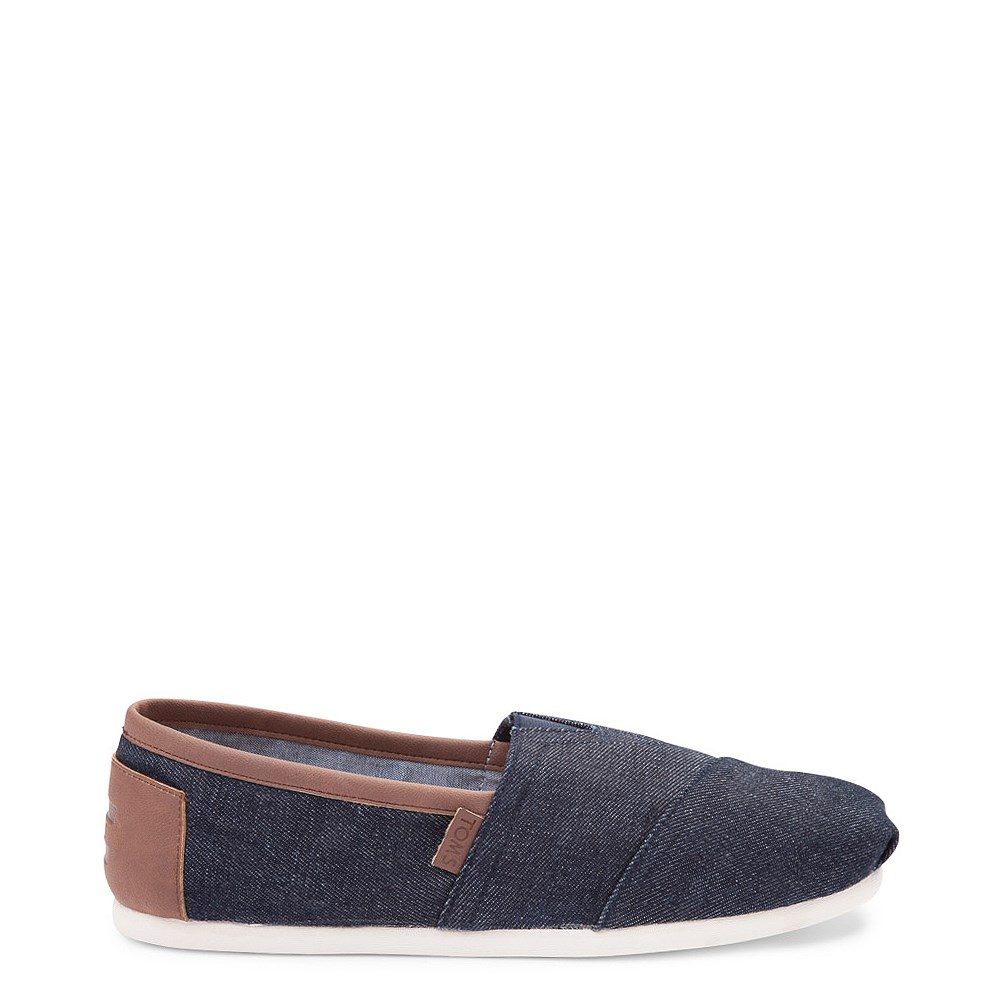 Mens TOMS Classic Denim Slip On Casual Shoe