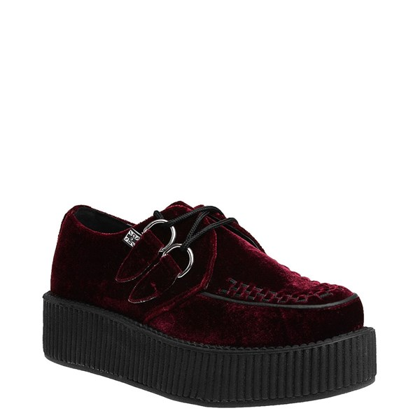alternate view T.U.K. Mondo Creeper Casual Platform Shoe - BurgundyALT1