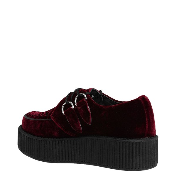 alternate view T.U.K. Mondo Creeper Casual Platform Shoe - BurgundyALT2