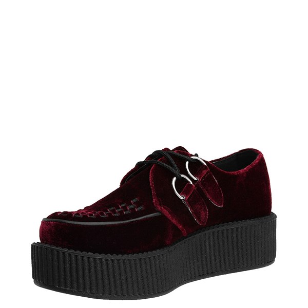 alternate view T.U.K. Mondo Creeper Casual Platform Shoe - BurgundyALT3