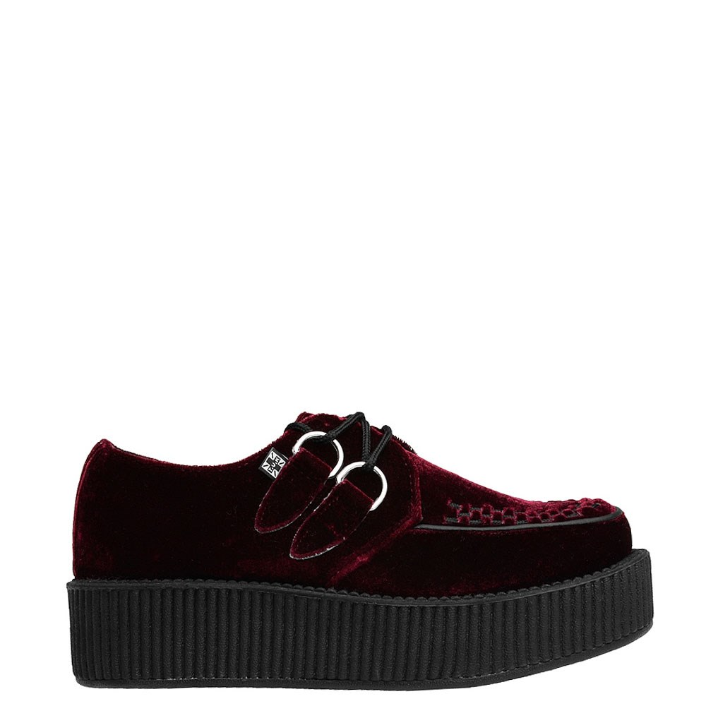 T.U.K. Mondo Creeper Casual Platform Shoe - Burgundy