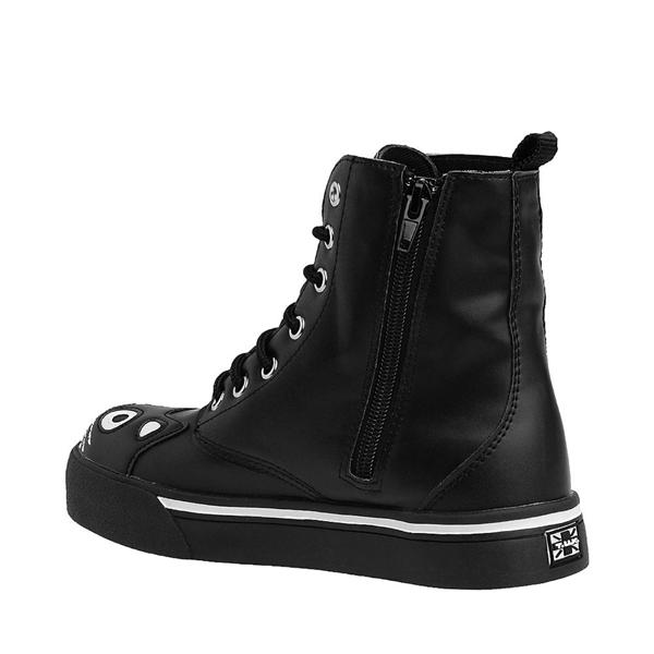 alternate view Womens T.U.K. Kitty Sneaker Boot - Black / WhiteALT1