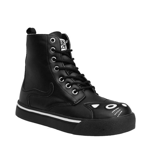 alternate view Womens T.U.K. Kitty Sneaker Boot - Black / WhiteALT5