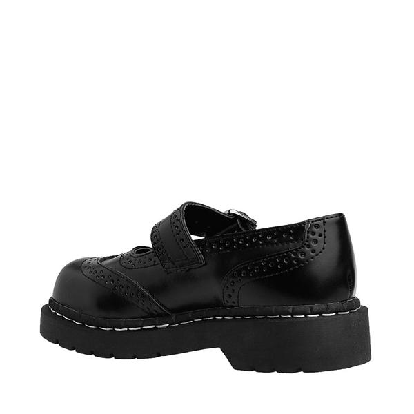 alternate view Womens T.U.K. Brogue Mary Jane Casual Shoe - BlackALT1