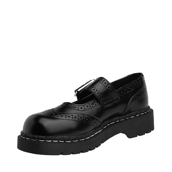 alternate view Womens T.U.K. Brogue Mary Jane Casual Shoe - BlackALT2