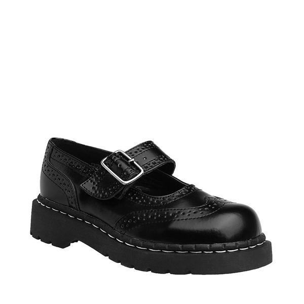 alternate view Womens T.U.K. Brogue Mary Jane Casual Shoe - BlackALT5