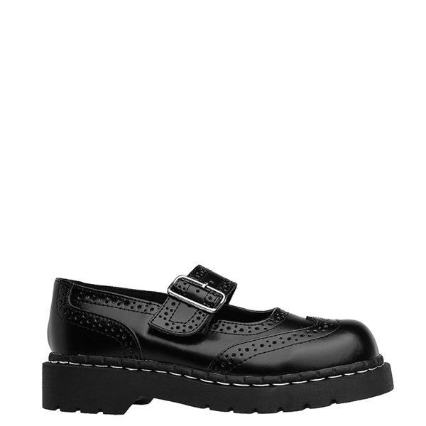 Womens T.U.K. Brogue Mary Jane Casual Shoe - Black