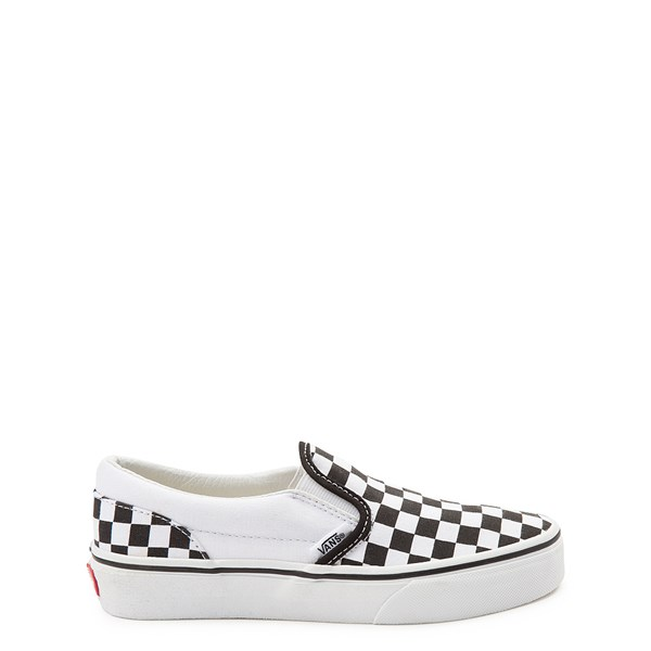 Default view of Vans Slip On Checkerboard Skate Shoe - Little Kid / Big Kid - Black / White