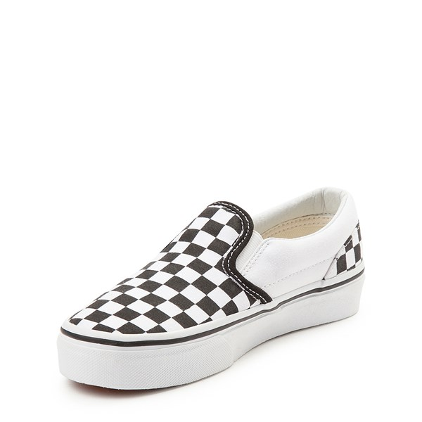 alternate view Vans Slip On Checkerboard Skate Shoe - Little Kid / Big Kid - Black / WhiteALT3
