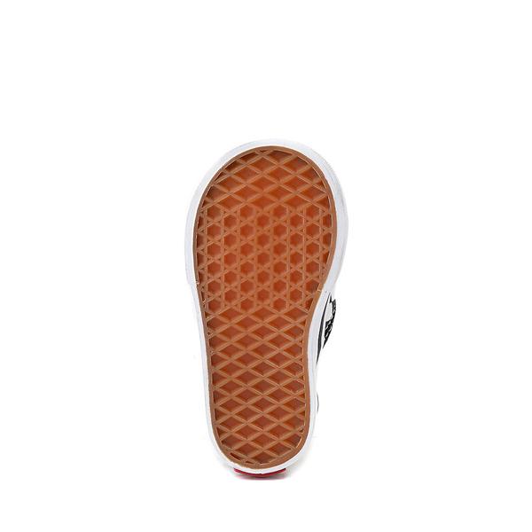alternate view Vans Slip On Checkerboard Skate Shoe - Baby / Toddler - Black / WhiteALT3